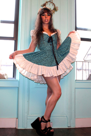 Mandate of Heaven Teal Minidress